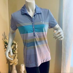 Puma Lavender Button Collar Polo Golf Shirt